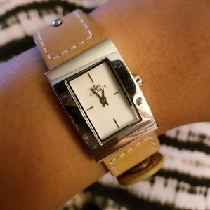 Lacoste leather ladies watch